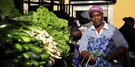 Grönsaksmarknad på ön Sal, Kap Verde.