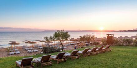 Strand vid hotell Santa Marina Plaza i Agia Marina på Kreta.