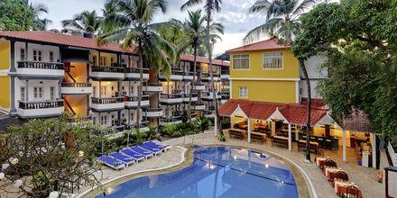 Poolen på hotell Santiago Goa i Indien.