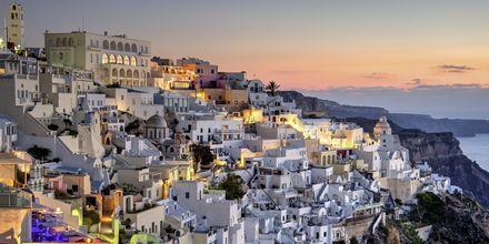 Fira på Santorini, Grekland.
