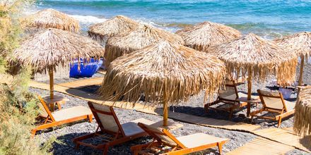 Njut av sköna dagar vid havet på Santorini i Perissa/Perivolos.