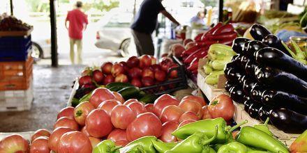 Frukt- och grönsaksmarknaden i Saranda.