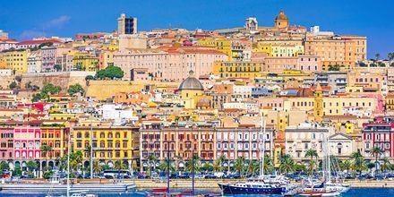 Cagliari från havet.