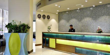 Reception på hotell Savoy Central, Bur Dubai, Förenade Arabemiraten.