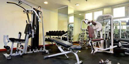 Gym på hotell Savoy Central, Bur Dubai, Förenade Arabemiraten.