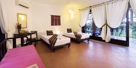 Dubbelrum i bungalow på hotell Seahorse Resort & Spa i Phan Thiet, Vietnam.