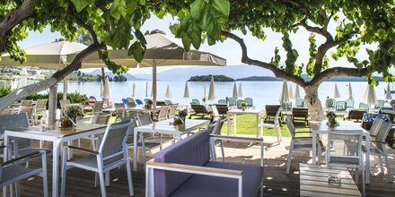 Snackbar på hotell Seaview på Lefkas.