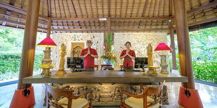 Lobby på hotell Segara Village, Bali, Indonesien.