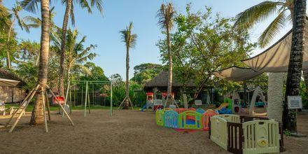 Lekplats på hotell Segara Village, Bali, Indonesien.