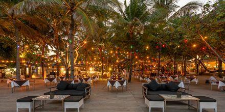 Restaurang på hotell Segara Village, Bali, Indonesien.