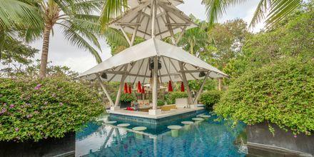 Poolbar på hotell Segara Village, Bali, Indonesien.
