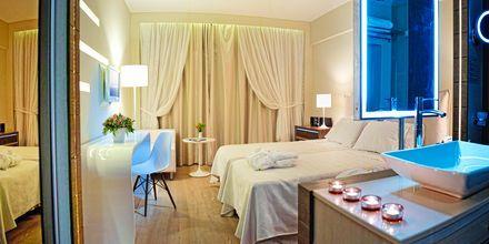 Dubbelrum på hotell Sentido Aegean Pearl i Rethymnon, Kreta.