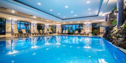 Inomhuspool på hotell Sentido Galomar på Madeira, Portugal.
