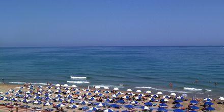 Stranden vid hotell Sentido Pearl Beach i Rethymnon på Kreta.