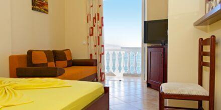 Dubbelrum på hotell Serxhio i Saranda, Albanien.