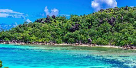 Ön Praslin är den näst mest befolkade på Seychellerna.