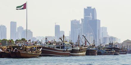 Hamnen i Sharjah.