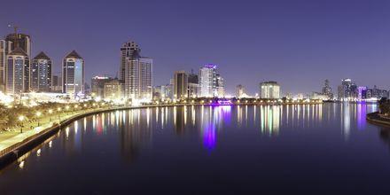 Sharjah by night.