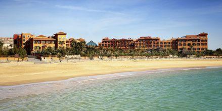 Stranden vid Sheraton Fuerteventura Beach, Golf & Spa Resort i Caleta de Fuste, Fuerteventura.