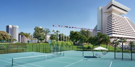 Tennisbana på Sheraton Grand Doha Resort.