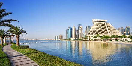 Omgivningarna vid Sheraton Grand Doha Resort i Doha, Qatar.