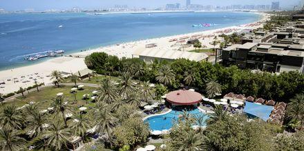 Strand på hotell Sheraton Jumeirah Beach Resort i Dubai, Förenade Arabemiraten.