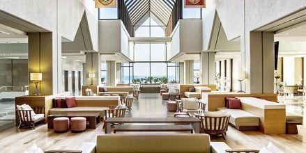 Lobbyn på hotell Sheraton Rhodes Resort på Rhodos, Grekland.