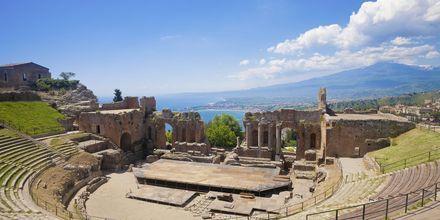 Amfiteatrarna i Taormina på Sicilien.