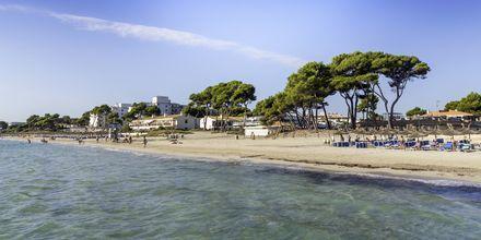 Strand på Sicilien.
