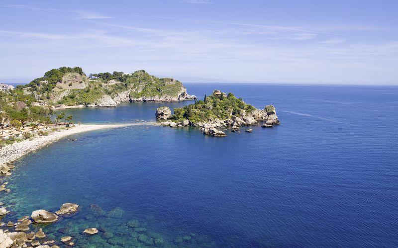 Östkusten på Sicilien.