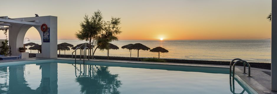 Hotell Sigalas på Santorini, Grekland.