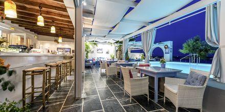 Restaurang på Hotell Sigalas på Santorini, Grekland.