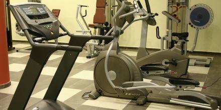 Gym på Sirena Residence & Spa på Samos, Grekland.