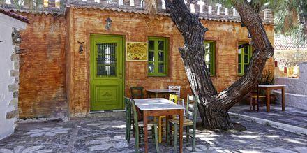 Kafé på Sirena Residence & Spa på Samos, Grekland.