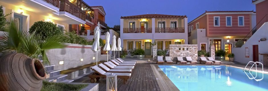 Pool på Sirena Residence & Spa på Samos, Grekland.