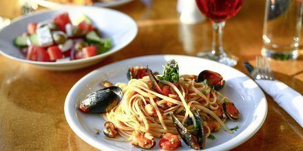 Ät gott på hotell Sirene i Ixia på Rhodos.