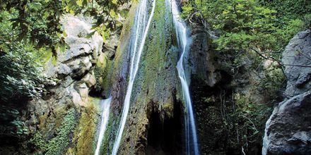 Vattenfallet i Richtis Gorge väster om Sitia på Kreta, Grekland.