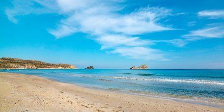 Strand i Sitia på Kreta, Grekland.