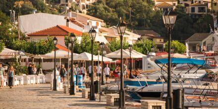 Sivotas mysiga hamn kantas av restauranger och barer.