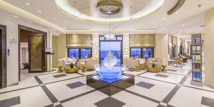 Lobbyn på Sivota Diamond, Grekland.