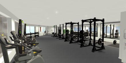 Skissbild på gymmet