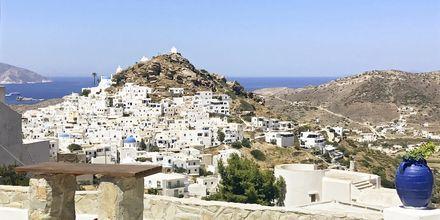 Utsikt från hotell Skala, på Ios, Grekland.