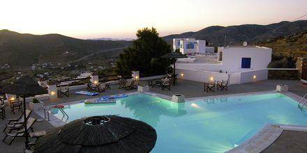 Pool på hotell Skala, Ios, Grekland.