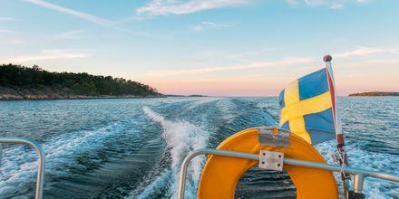 Bjärehalvöns vackra kust är perfekt för båtturer.