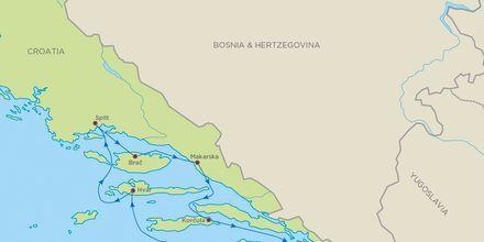 Skärgårdskryssning i Kroatien med Bella