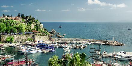Den bildsköna hamnen i Antalya.