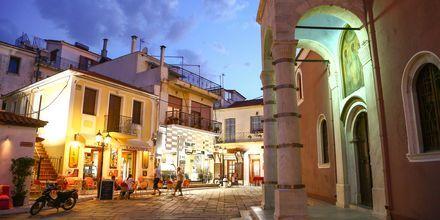 Skiathos stad, Grekland.