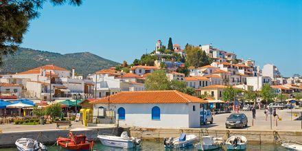 Skiathos stad i Grekland.