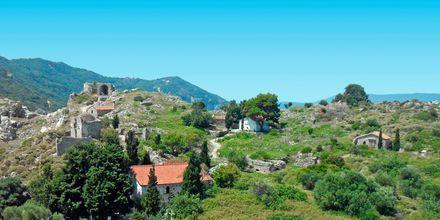 Landsbygd på Skiathos i Grekland.