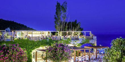 Hotellvy över hotell Skiathos Palace, Grekland.